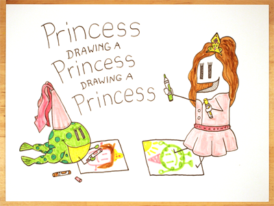 22: Draw me a [Princess Drawing A Princess Drawing A Princess] frog illustration drawing princess