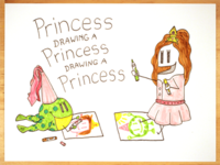 22: Draw me a [Princess Drawing A Princess Drawing A Princess]