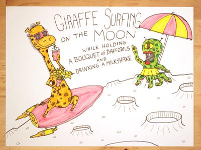 19: Giraffe Surfing On The Moon