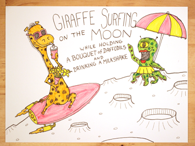 19: Giraffe Surfing On The Moon