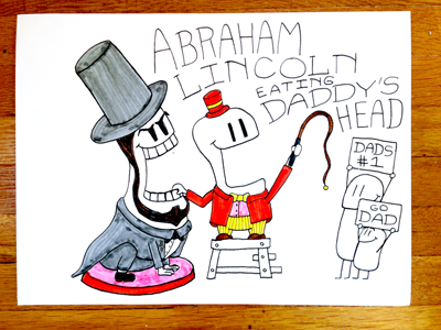 18: Abraham Lincoln Eating Daddys Head violent daddy head lion circus lincoln abraham
