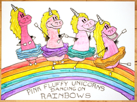 17: Pink Fluffy Unicorns Dancing On Rainbows