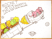 23: Rocket Driven By Two Elephants With An Ice Cream Payload