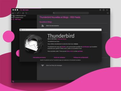 DeepDark | Pink Sapphire Edition (dark mode for Thunderbird)