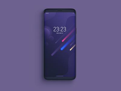 Cosmic Glows   Smartphone Wallpaper wallpaper vector purple cosmos smartphone flat design illustration clean design