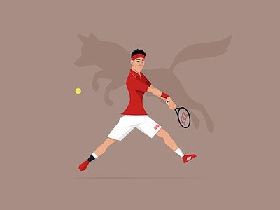 Kei Nishikori | Hidden Beasts digital art illustration flat style hidden beast kei nishikori vector player tennis sport