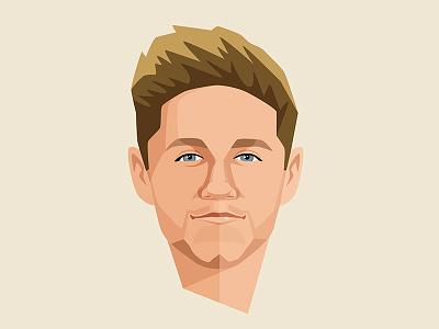 Niall Horan singer portrait niall niall horan vector digital illustration