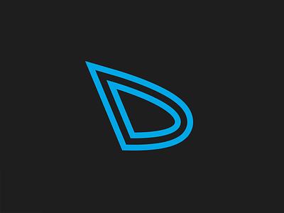 DeepDark (UI dark themes project)   Logomark brandidentity branding digital vector illustrator d deepdark monogram logomark logo