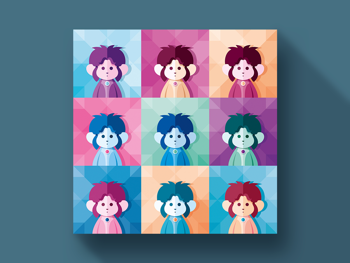 Pop art portrait n°08 | Digital Stars hero retro gaming illustration illustrator vector digital character popart portrait colorful flatillustration