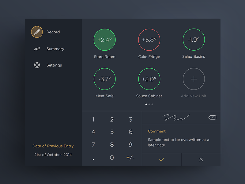Temperature App for iOS app design ios iphone graphic ui ux flat dark interface ipad ios 7
