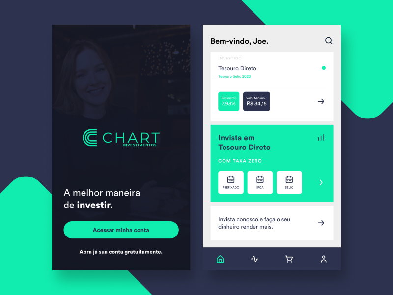 UI Design App Chart Investimentos by Evanston Sousa on Dribbble