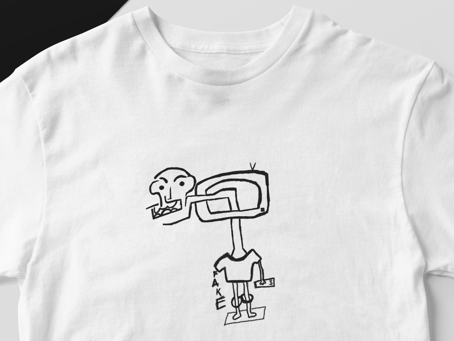 Fake fake news news media streetwear design t-shirt