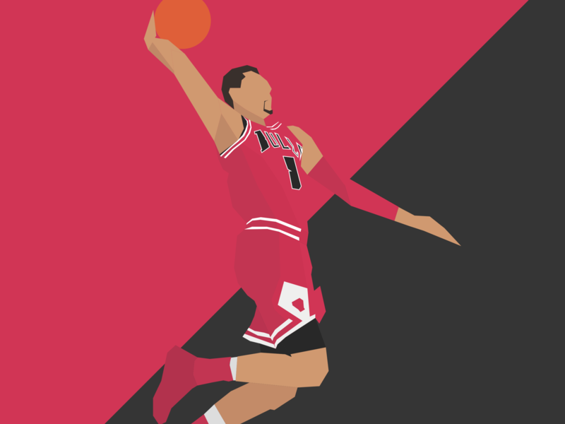 Zach Lavine - Chicago Bulls fanart illustration hoops basketball nba