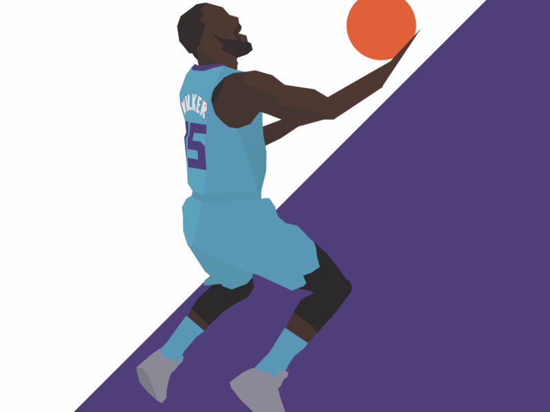 Courtnotes Kemba nba vector hoops fanart nba poster illustration basketball
