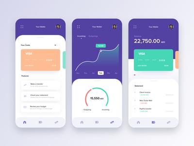 Banking & Finance app concept
