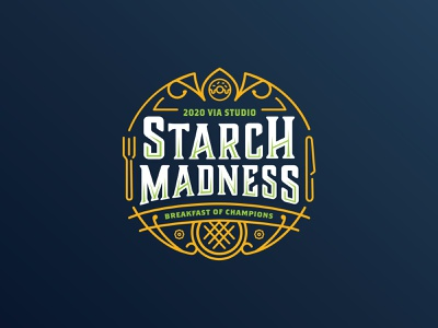 Starch Madness funny dribbble basketball sports design monoline waffle donut sports branding sports logo sports breakfast march madness