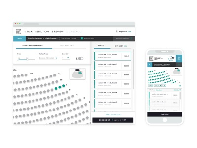Ticket Application UI dashboad sketch vector interface design user experience user interface ui  ux ux design performing arts branding ticket app ui