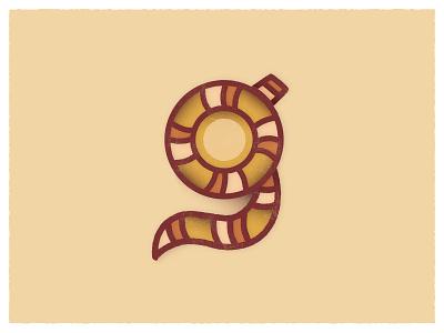 G Type Study letterform illustrator illustration circle tail stripes funky g monogram g letter g logo g mark type hype type fight type design lettermark letter