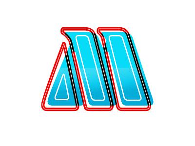 Literally Just an M typefight typography letter design. font alphabet m logo letter letterform m