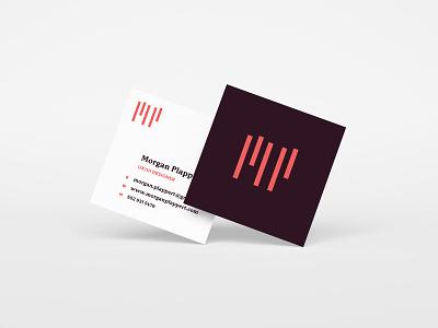 MP Business Cards minimalist logo simple logo logo design business card business card mockup business card design personal branding mp logo m logo rebrand
