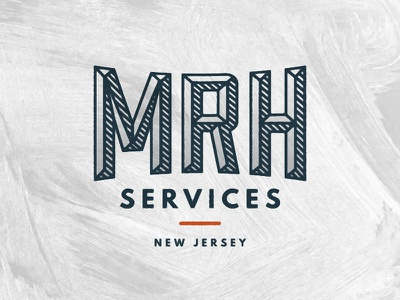 MRH Logo.01 new jersey repair landscaping services orange minimal type logo labor handyman construction