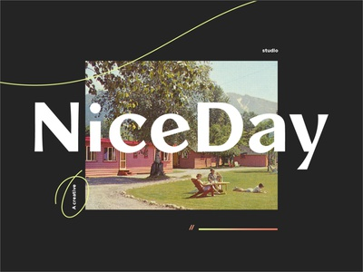 NiceDay A CreativeStudio font logo studio creative design