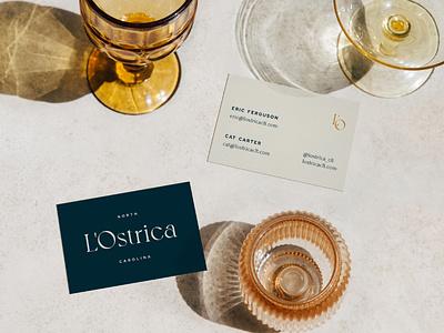 L'Ostrica minimal branding studio vector typography font logo design creative