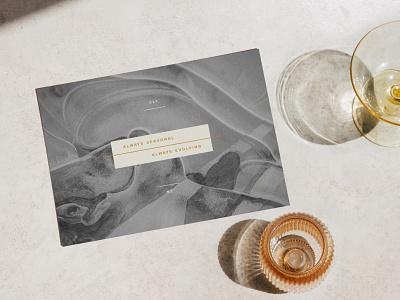 L'Ostrica Notecards elegant typography studio minimal branding font design creative