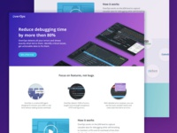 OverOps landing page