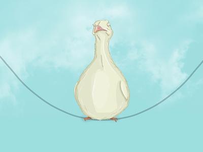 A fat bird design sky bird illustration