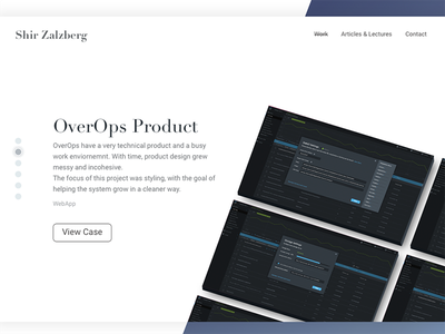 OverOps product - my portfolio interactive ux ui design web portfolio