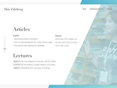 Portfolio - about me page me lectures articles web ux ui portfolio interactive design