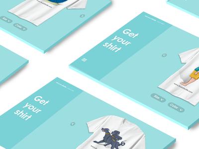 Quiz game t-shirts t-shirt web game illustration ui design blue quiz store