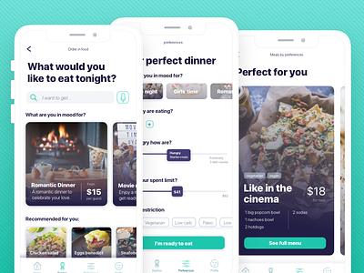 Ordering food app food app ui design typogaphy ux mobile order food