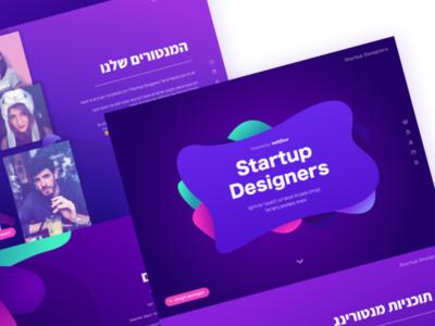 Startup Designers' website vector mentors mentor landing page landingpage uxui community sketch purple branding webflow website ui ux design