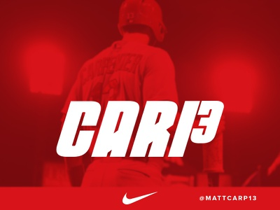 St. Louis Cardinals Matt Carpenter Identity cardinals typography nike sports baseball sports design athletics custom type