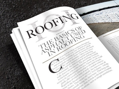Asphalt Magazine Roofing 101 Spread publication design magazine serif big caslon asphalt typography layout spread print design editorial design