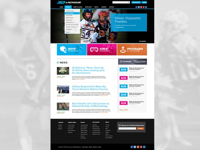 3d Lacrosse website visual design user interface lacrosse web design photoshop