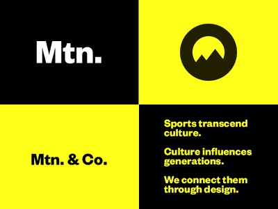 Mtn. & Company branding mtnco athletics sports agency sports branding sports design mountain mtn