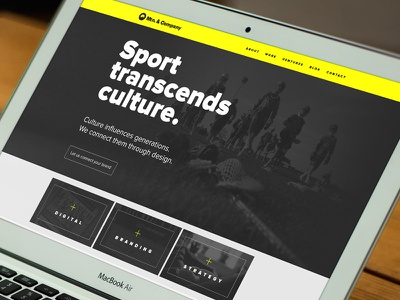 Mtn. & Co. website web design visual design ui sports graphics mountain mtn sports design