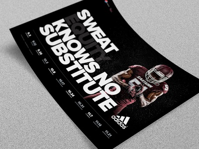 2015 EKU Football Schedule Poster Concept sports branding posters copywriting sweat equity adidas sports design sports football