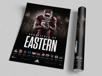 2015 EKU Football Poster Concept art digital athletics sports branding adidas eastern art direction sports design sports college football