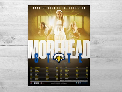 2015-16 Morehead State Women's Basketball Poster print graphic design athletics sports yellow womens basketball morehead state hoops basketball poster sports design
