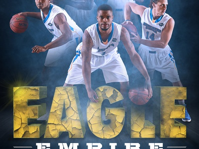 2015-16 Morehead State Men's Basketball Poster hooops athletics sports morehead state compositing photo manipulation basketball posters print design sports design