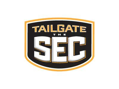 Tailgate the SEC Logo sports tailgating logo sec football 2-color