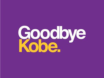 Thanks for the memories, Black Mamba. sans-serif kerning sports design lakers helvetica kobe bryant