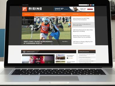 3d Rising Homepage lacrosse web design photoshop user interface ui visual design