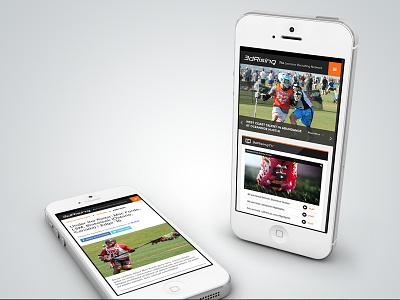 3d Rising Website Mobile View web design responsive design lacrosse user interface ui mobile design visual design