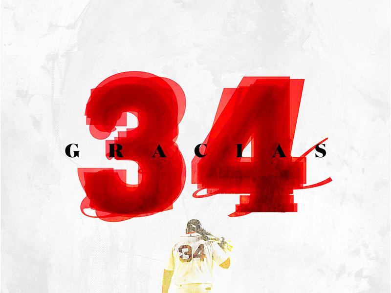 Thank You Big Papi - Boston Red Sox Sendoff digital art graphic design social media typography texture sports design sports baseball red sox boston david ortiz big papi