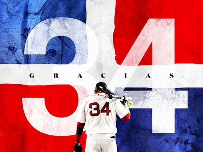 Thank You Big Papi - Boston Red Sox Sendoff digital art social media dominican helvetica graphic design sports design baseball sports red sox boston david ortiz big papi